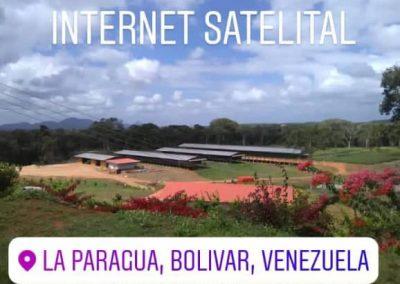 Internet satelital en zona agricultora